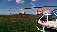 Zásah zdravotníků u nehody v Bohumíně.