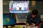 Zázemí obří obrazovky v ČEZ aréně.