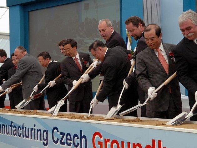Slavnostní zahájení stavby automobilky Hyundai v Nošovicích