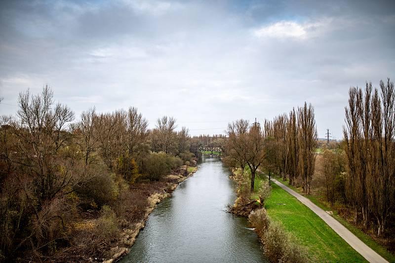 Plánovaný vodní koridor Dunaj–Odra–Labe. 14. listopadu 2020 v Ostravě.