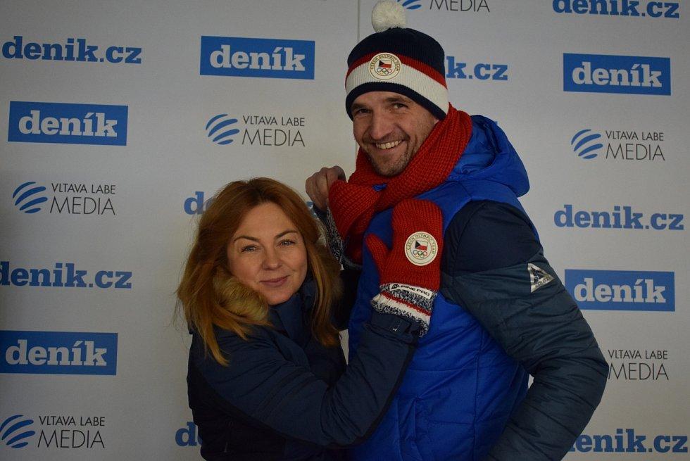 Fotokoutek Deníku v areálu Olympijského festivalu v Ostravě.