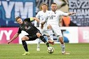 Finále fotbalového poháru MOL Cupu: FC Baník Ostrava - SK Slavia Praha, 22. května 2019 v Olomouci. Na snímku (zleva) Škoda Milan a Martin Šindelář.