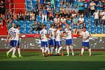 Utkaní 7. kola fotbalové FORTUNA:LIGY: FC Baník Ostrava - 1. FC Slovácko, 23. srpna 2019 v Ostravě. Na snímku radost Baníku.