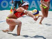 Turnaj Světové série Ostrava Beach Open, 21. června 2018, na snímku Barbora Hermannová