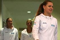 Zleva Lucie Hradecká, Andrea Hlaváčková, Lucie Šafářová