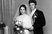 Svatba manželů Stankušových 27. února 1971.