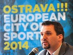 Martin Štěpánek při představení kandidatury Ostravy na Evropské město sportu 2014. Ilustrační foto.