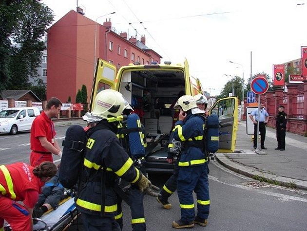 Manévry u pivovaru. Že jde o cvičení netušili ani dispečeři Integrovaného bezpečnostního centra Moravskoslezského kraje.