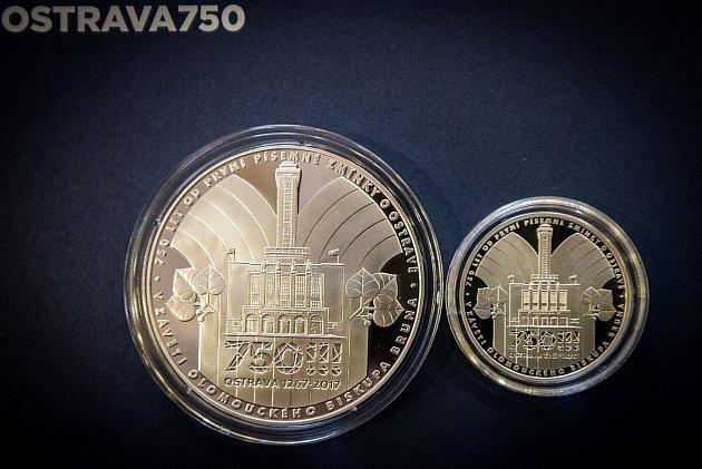 Tyto pamětní medaile nechalo vyrobit město Ostrava kceloročním oslavám 750.výročí od první písemné zmínky.