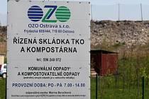 Skládka v Ostravě-Hrušově.
