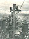 Staveniště vysoké pece č. 3 (18. 10. 1958).