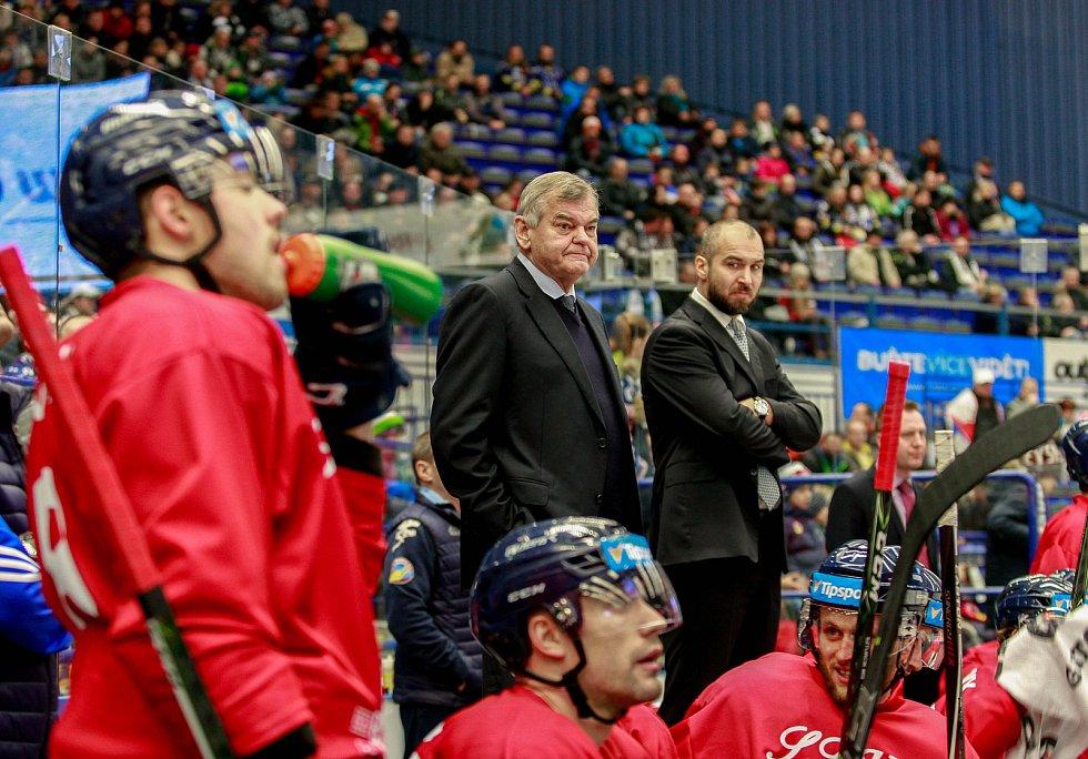 Vladimír Vůjtek u hokejových Vítkovic.