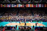 Utkání mistrovství Evropy volejbalistů - osmifinále: ČR - Francie, 13. září 2021 v Ostravě.