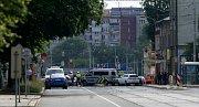 Bomba u Ředitelství Vítkovic.