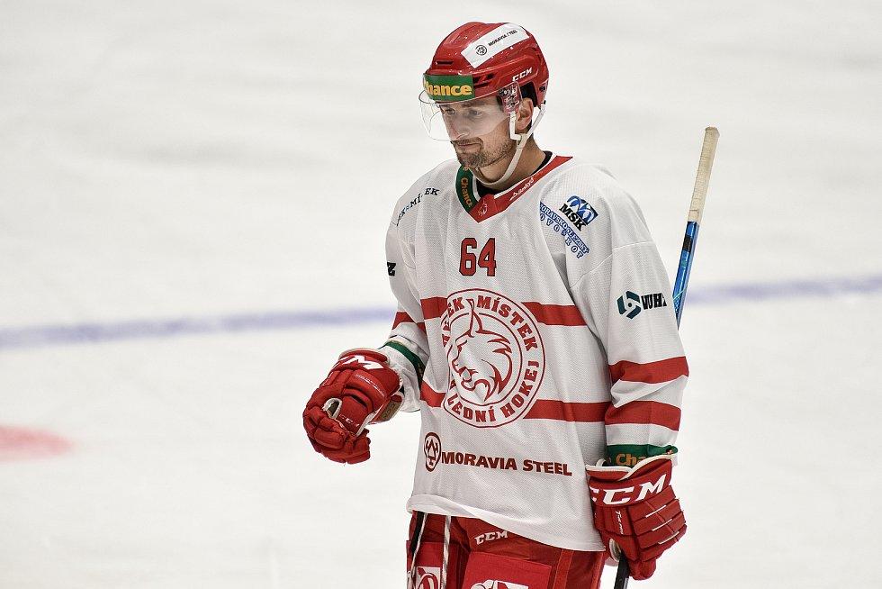 Hokejová Chance liga HC RT TORAX Poruba  - HC Frýdek-Místek, 4. ledna 2021 v Ostravě. Šedivý