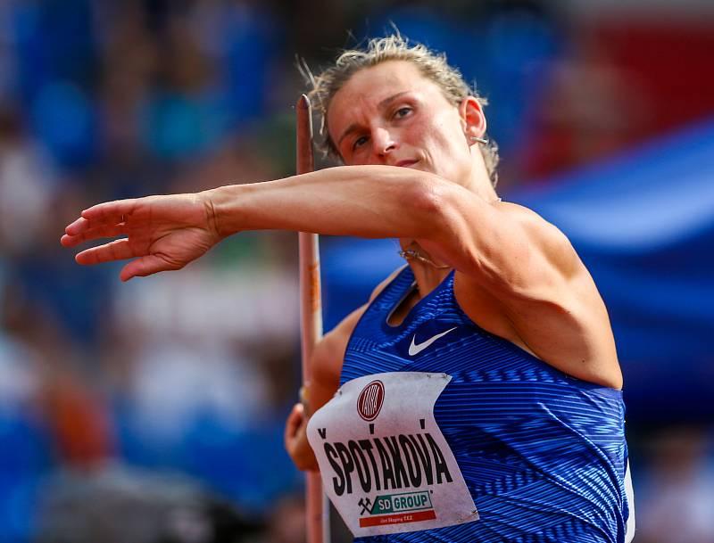 Atletický mítink IAAF World Challenge Zlatá tretra v Ostravě 20. června 2019. Na snímku Barbora Špotáková z (CZE).