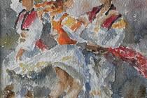 V Galerii Mlejn vOstravě-Přívoze je v těchto dnech kvidění výstava slovenského výtvarníka Jozefa Vrábela zPodvysokej v Beskydech.