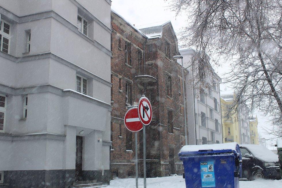 chátrající dům Štramberská 10