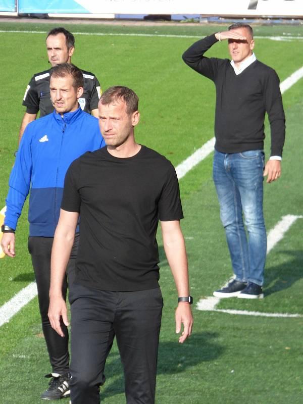 Fotbalisté Baníku Ostrava v neděli hráli v Liberci. Trenér Baníku Ondřej Smetana.