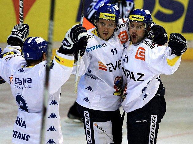 Vítkovičtí hokejisté. Ilustrační foto.