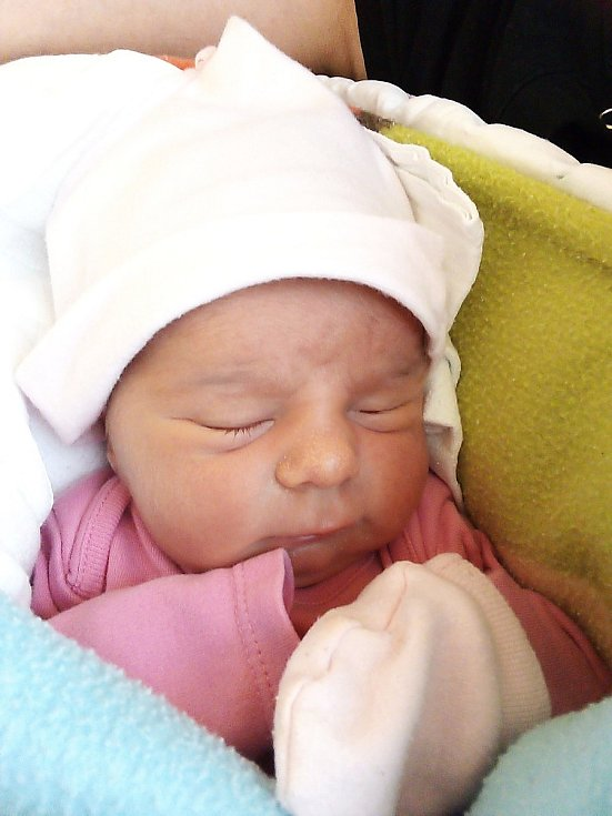 Aneta Bambušková, Mnichov, narozena 1. května 2021 v Krnově, míra 48 cm, váha 2980 g. Foto: Pavla Hrabovská