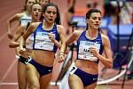 Mezinárodní halový atletický mítink Czech Indoor Gala 2020, 5. února 2020 v Ostravě. Běh 1500m ženy (pravo) Kristiina Maki z Česka.