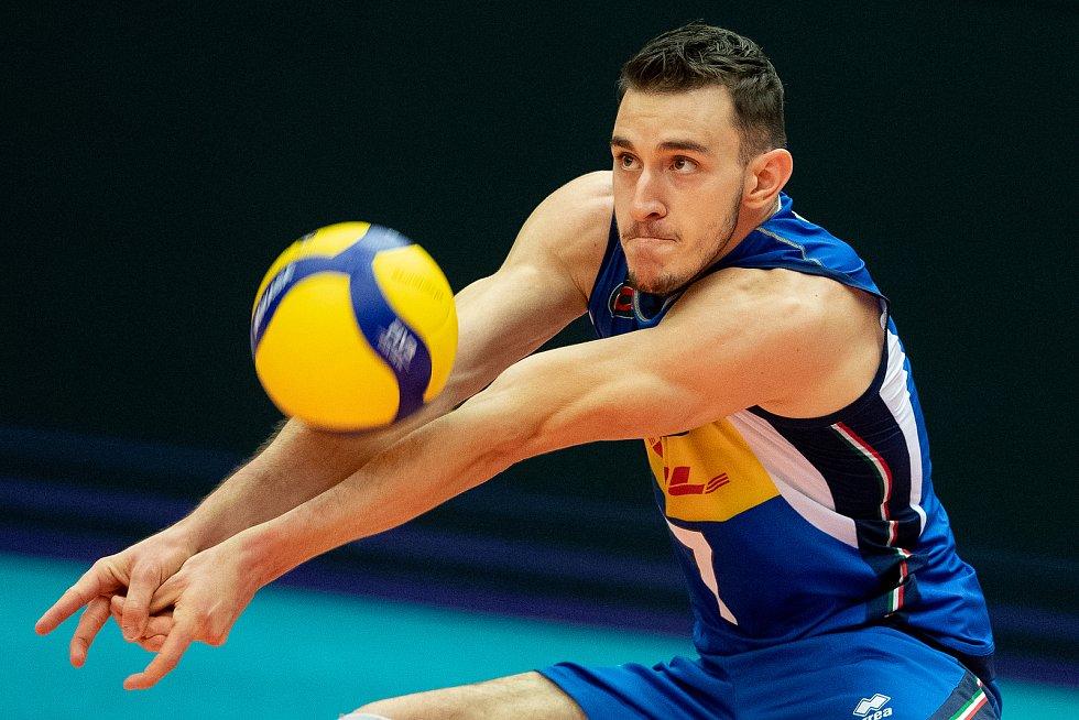 Utkání skupiny B mistrovství Evropy volejbalistů: ČR - Itálie, 9. září 2021 v Ostravě. Fabio Balaso z Itálie.