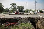 Tuto křižovatku budou řídit semafory. Úpravy souvisejí s budováním outletového centra v Ostravě-Přívoze.