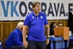 Volejbalová extraliga mužů, VK Ostrava – Ústí nad Labem, 20. listopadu 2020 v Ostravě. Trenér Ústí Lubomír Vašina.