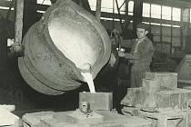 Slévarna Bild vergrößern  SLÉVÁRNA (foto z 25. března 1953) byla druhým základním kamenem současných strojíren. I ona byla v provozu už v době, kdy kunčické provozy spadaly pod tehdejší Vítkovické železárny Klementa Gottwalda.