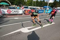 Maratónci na bruslích ovládli Hlavní třídu.