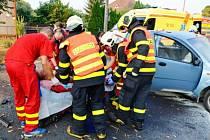 Zásah záchranářů u nehody v Nové Bělé.