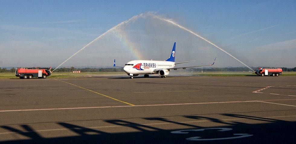 První let na lince Ostrava-Dubaj odstartoval z mošnovského letiště.
