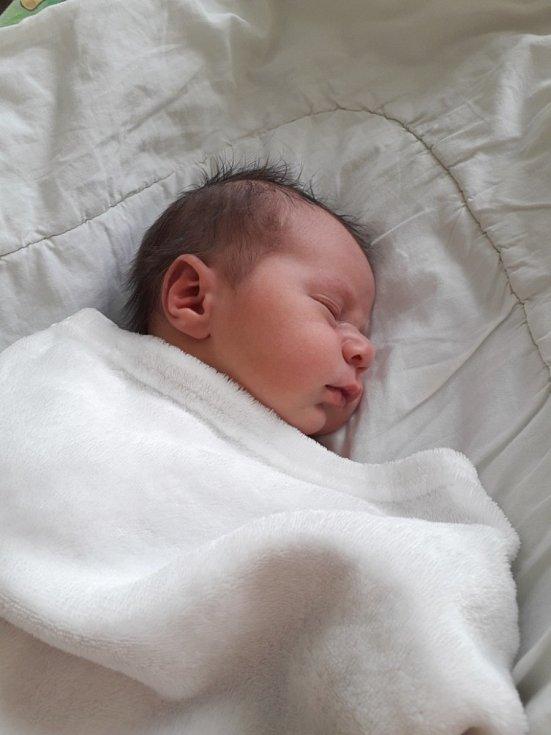 Jáchym Jantoš z Havířova, narozen 3. dubna 2021 v Havířově, váha 3920 g, míra 51 cm. Foto: Michaela Blahová