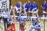 Utkání 11. kola UNIQA volejbalové extraligy mužů: Ostrava - Praha, 8. prosince 2018 v Ostravě.