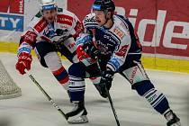 Vítkovice Ridera – Dynamo Pardubice 2:0, na snímku vpravo David Květoň