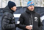 První přípravný zápas Tipsport ligy: Baník Ostrava - 1.SK Prostějov, 8. ledna 2019 v Orlové. Na snímku (zleva) Marek Jankulovski a majitel Baníku Ostrava Václav Brabec.