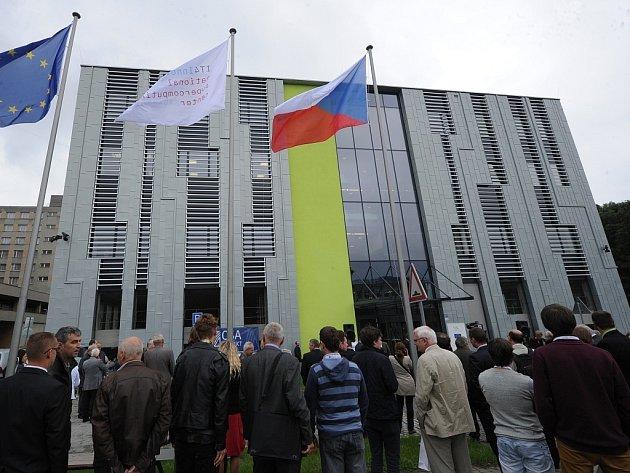 Otevření budovy Národního superpočítačového centra IT4Innovations v areálu Vysoké školy báňské Technické univerzity Ostrava.