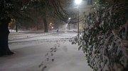 Ostravu v noci z 18. na 19. dubna zasáhlo slabé sněžení.