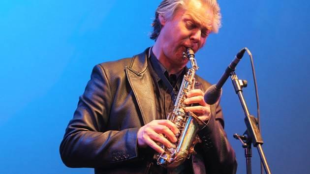 Jan Garbarek na svém čtvrtečním koncertu.