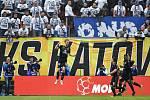 Finále fotbalového poháru MOL Cupu: FC Baník Ostrava - SK Slavia Praha, 22. května 2019 v Olomouci. Na snímku (střed) Souček Tomáš.