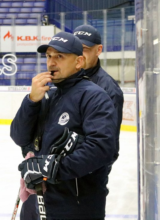 Miloš Holaň, Vítkovice, hokej, první trénink, extraliga