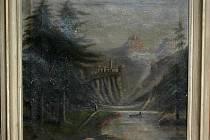 Takto vypadal padělek obrazu Alpská krajina s hradem.