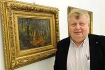 Jan Světlík, generální ředitel a předseda představenstva a. s. Vítkovice, na připravované výstavě ve Výtvarném centru Chagall v Ostravě.