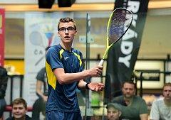 TALENT. Squashista Viktor Byrtus z Corkers Ostrava se probojoval až do finále mistrovství Evropy do 19 let v Polsku.