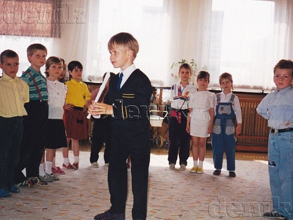 Martin Chodúr na jednom ze svých prvních dětských vystoupení.