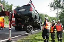 Středeční nehoda v křižovatce v Ostravě-Radvanicích