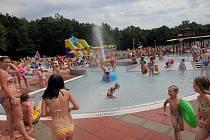 Letní odpoledne ve Vodním areálu v Ostravě-Zábřehu