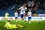 Utkání 16. kola fotbalové Fortuna ligy: FC Baník Ostrava - MFK Karviná, 8. listopadu 2019 v Ostravě. Na snímku Nemanja Kuzmanovič.