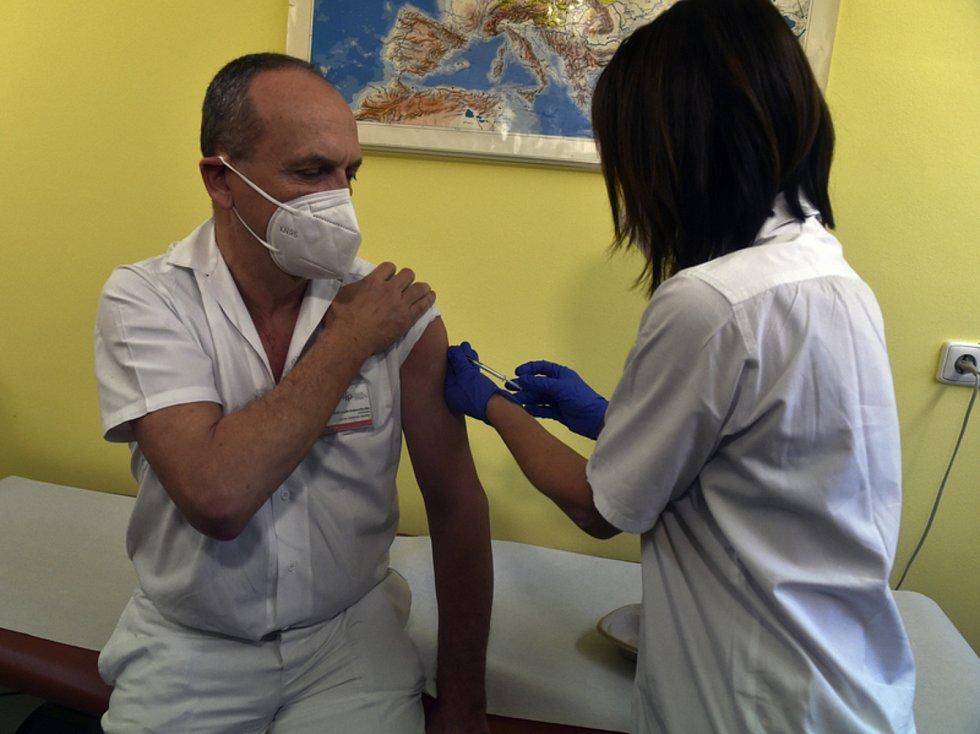 Očkování proti covidu-19 v Ostravě.